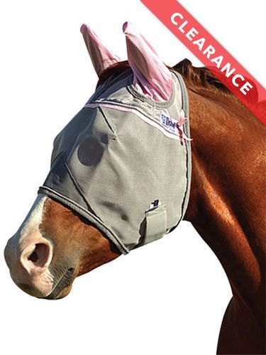 Cashel Crusader Premium Fly Mask Standard With Ears CFMSE-PNK, CLEARANCE