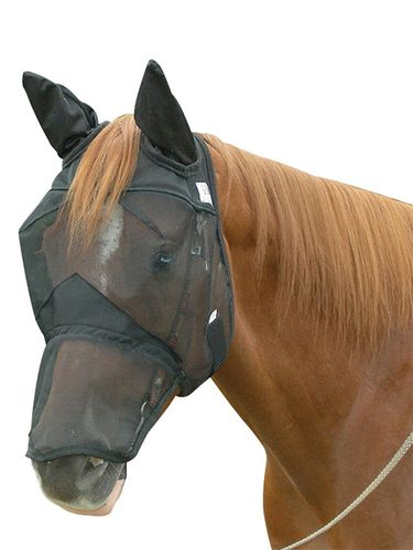 Cashel Quiet Ride Fly Mask Long With Ears QRLE