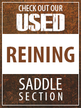 Check out our Used Reining Saddle section