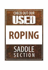 Check out our Used Roping Saddle section