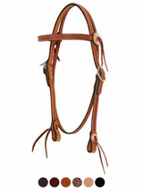 "Circle Y 3/4"" Border Tooled Browband Headstall 0100-43"