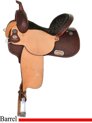Circle Y Kelly Kaminski New Frontier Barrel Saddle 1507 w/Free Pad