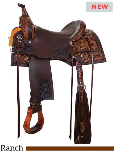 "15"" to 17"" Circle Y Cody Crow Versatility Saddle 1382 w/Free Pad"