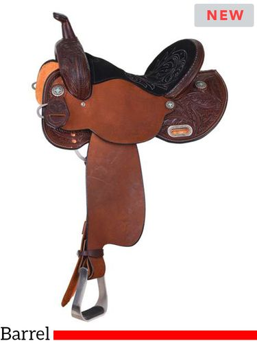 "13.5"" to 16"" Circle Y Dakota Barrel Saddle 2230 w/Free Pad"