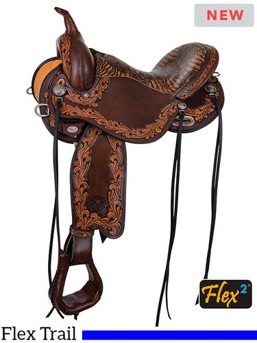"13"" to 17"" Circle Y Delta Flex2 Trail Saddle 1680 w/Free Pad"
