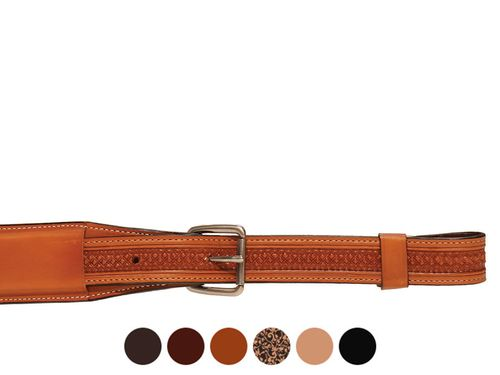 Circle Y Julie Goodnight Diamond Tooled Flank Strap 0803-11