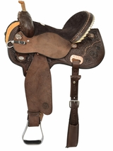 Circle Y Kenda Lenseigne Black Powder Mounted Shooter Saddle 2404 w/Free Pad