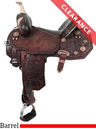 "17"" Circle Y Martha Josey Ultimate Legend Barrel Saddle 1197, CLEARANCE"