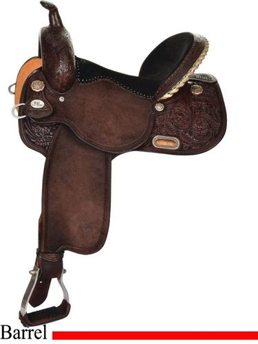 Circle Y New Frontier Kelly Kaminski Barrel Saddle 1508 w/Free Pad