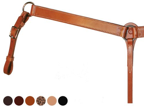 Circle Y Smooth Leather Breast Collar 428100