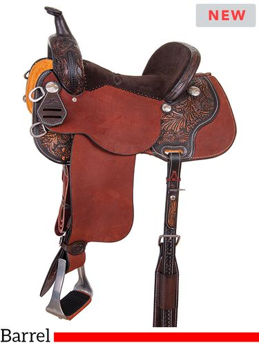 "13"" to 15"" Reinsman Sharon Camarillo BRX Barrel Saddle 4212 w/Free Pad"