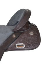 """13.5"""" to 16.5"""" Circle Y Tammy Fischer Short Horn Texas Signature Treeless Barrel Saddle 1306 w/Free Pad"""