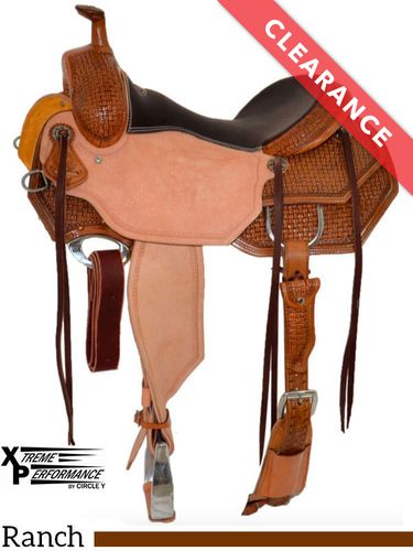 """SOLD 2020/10/23  15"""" Circle Y XP Hamilton Wide Ranch Saddle 2542, CLEARANCE"""