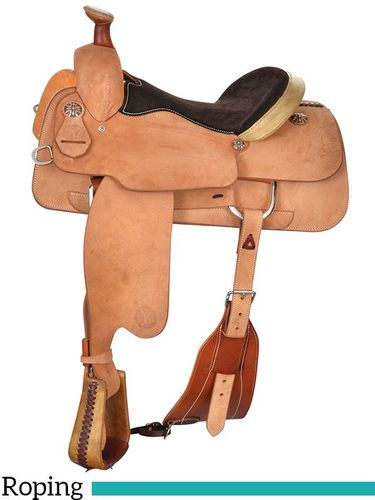 "14"" to 17"" Circle Y Duncan Roping Saddle 2780 w/Free Pad"