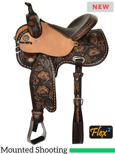 "13.5"" to 16"" Circle Y KL Big Iron Flex2 Mounted Shooting Saddle 2405 w/Free Pad"
