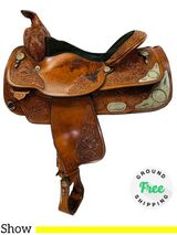 """PRICE REDUCED! 15.5"""" Used Circle Y Equitation Show 2934 uscy4399 *Free Shipping*"""