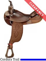 """16"""" Big Horn Black Synthetic FQHB Saddle 205, CLEARANCE"""