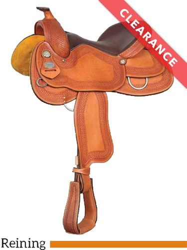 """SOLD 2021/01/21   16"""" Crates Ladies Tooled Reiner Saddle 4521, CLEARANCE"""