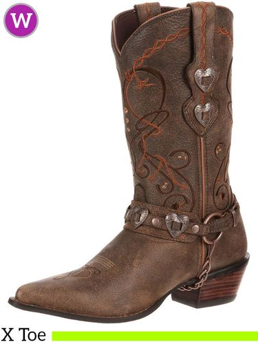9B Women's Durango Crush Brown Heartbreaker Boots RD4155