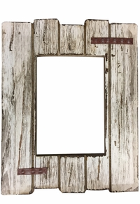 Distressed Ivory Wood Picture Frame 94014