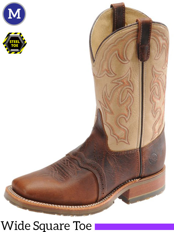 Men's Double-H ICE™ Briar Bison Steel Toe Roper Boots DH5305