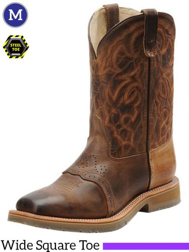 Men's Double-H ICE™ Full Grain Steel Toe Roper Boots DH3567