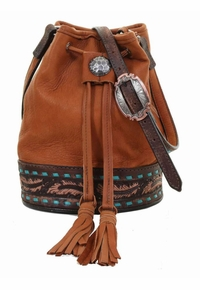 Double J Brandy Elk Skin Barrel Bag BARB28