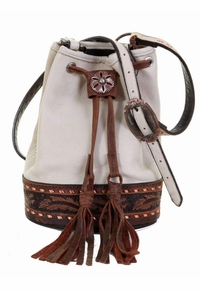 Double J White Elk Skin Barrel Bag BARB27