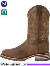 """Men's Double-H ICE™ 11"""" Wide Square Composite Roper Boots DH5124"""
