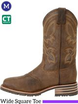"Men's Double-H ICE™ 11"" Wide Square Composite Roper Boots DH5124"