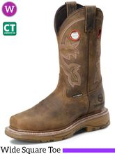 "Women's Double-H Women's 11"" WorkFlex Waterproof Composite Wide Square Toe Roper DH5155"