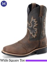 "Men's Double-H 11"" Wide Square Toe Roper Francisco DH4258"