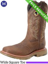 Mens 8 Medium Double-H Buster Bison Roper Boots DH5138, CLEARANCE