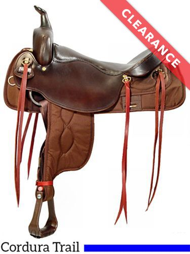 """17.5"""" Big Horn Draft Synthetic Saddle 296, CLEARANCE"""