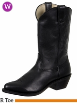 Women's Durango Black Leather Western Boots RD4100