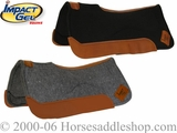 "New Felt Contour Saddle pad with Gel Inserts 32""L x 32""D"