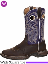 Women's Durango Flirt Ink Saddle-Lace Western Boots RD3576