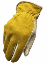 HDX Men's Cowhide/Splitback Gloves H2111208