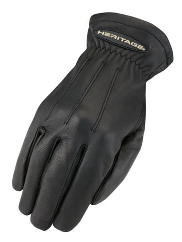 Heritage Black Deerskin Trail Gloves HG280