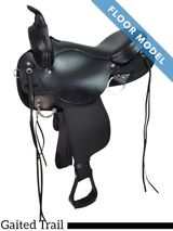 """SOLD 2019/01/09 PRICE REDUCED! 17"""" High Horse El Campo Gaited Trail Saddle 6970, Floor Model"""