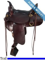 "PRICE REDUCED! 16"" High Horse Trail Big Springs Saddle 6862, Floor Model"