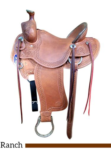 """15"""" to 17"""" HR Will James Ranch Saddle 62"""