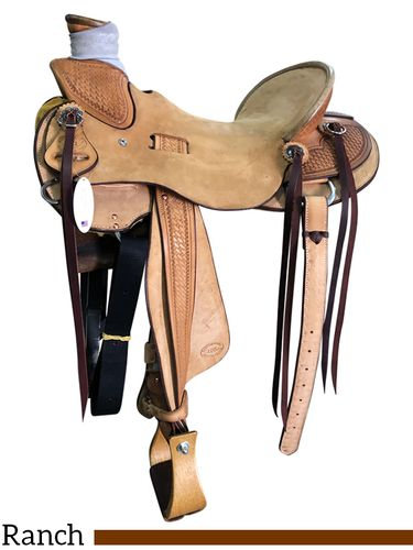 """14"""" to 17"""" HR Staci Wade Ranch Saddle 780"""