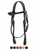 Circle Y Browband Headstall 0269-11, Julie Goodnight Leaf Border