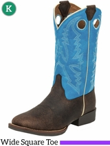 Kid's Justin Andrew Blue Bent Rail� Boots 377JR