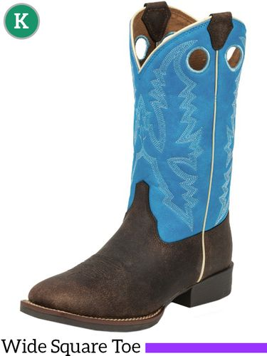 Kid's Justin Andrew Blue Bent Rail® Boots 377JR