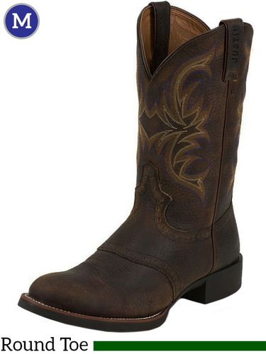 Men S Justin Murray Stampede Rawhide Boots 7200