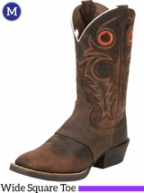 Men's Justin Whiskey Buffalo Silver Collection Boots SV2534