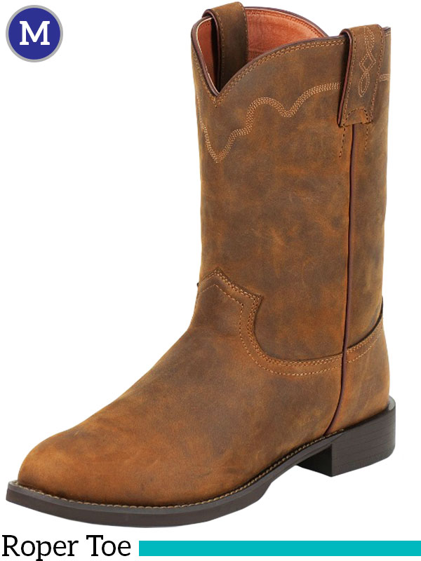 Men S Justin Jeb Roper Tan Apache Stampede Boots 3902