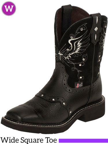 Women's Justin Mandra Black Suede Gypsy™ Boots L9977